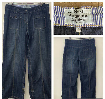£14.99 • Buy Next Sz 14 Petite Blue Relaxed Slouch Fit Jeans Can Also Be Worn 3/4 Length