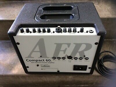 £445 • Buy Aer Compact 60 (2) Acoustic Guitar Combo Amp With Carry Case And Mains Supply