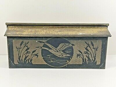 £36.18 • Buy Vintage Brass Mail/Letter Box Wall Mount ~Flying Duck In Reeds ~Decorative!