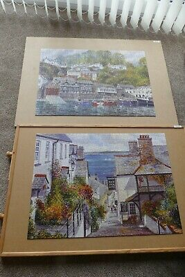£10 • Buy Clovelly By Terry Harrison, 2 X 1000 Piece Gibson's Jigsaw Puzzles. Complete,VGC