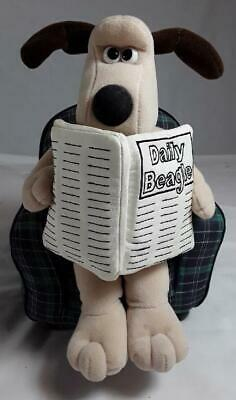 £28 • Buy Gromit Reading Daily Beagle. Limited Edition 1989. Wallace & Gromit. Plush