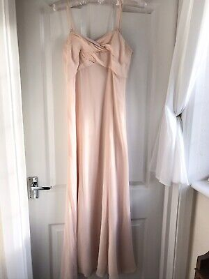 £11.70 • Buy Ladies NEXT Pale Pink Long Dress Size 10 Evening Maxi Prom Bridesmaid