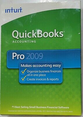 £88.50 • Buy Used QuickBooks Accounting Pro 2009 Software By Intuit, Original Packaging