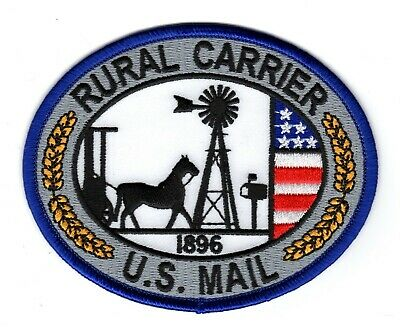 $6.29 • Buy Vintage Repo US MAIL RURAL CARRIER 1896 USPS PO POST OFFICE Letter Carrier Patch