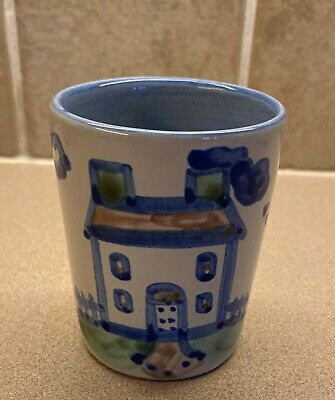 $12.99 • Buy M.A. Hadley Pottery Julep Cup - House Pattern - Tumbler - The End