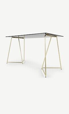 £199 • Buy Made.com Patrizia Desk In Brass And Clear Glass