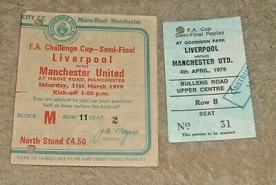 £7.99 • Buy Manchester United V Liverpool FA Cup Semi Final 1979 Tickets Plus Replay