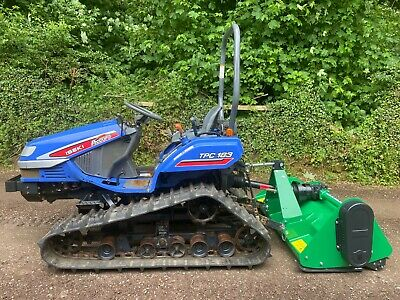 £6995 • Buy ISEKI TPC153 Track Compact Tractor & New Flail Mower *** WATCH VIDEO ***