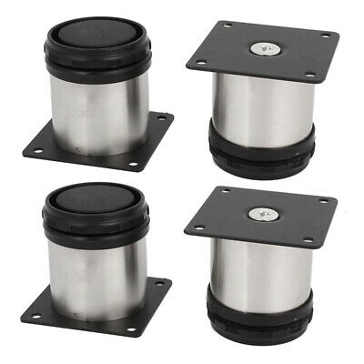 £6.41 • Buy 4Pcs Stainless Steel Feet Plinth Legs Sofa Beds Cupboard Cabinets Furniture *p