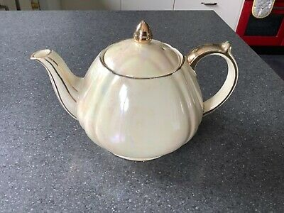 £12.50 • Buy Sadler Pearlescence And Gold Teapot