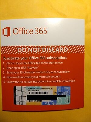 AU73.48 • Buy Microsoft Office 365 Personal 1 Year Subscription Of Latest MS OFFICE +1TB CLOUD