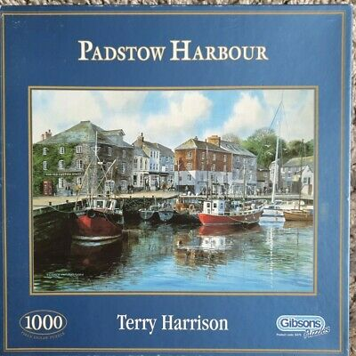 £8.95 • Buy Padstow Harbour By Terry Harrison. Gibsons Puzzles.1000 Pieces. VGC. FREE P&P.
