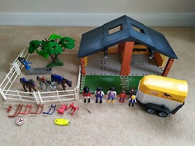 £14.99 • Buy Playmobil Horse Ranch With Trailer And Extras Bundle - Incomplete 3120