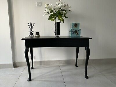 £20 • Buy Black Satin Finished  Mahogany Queen Anne Legged Table