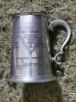 £88 • Buy Liverpool FC 1977 European Cup & League Champions Pewter Tankard
