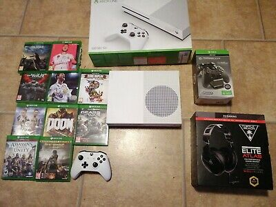 AU154.97 • Buy Microsoft Xbox One S 500GB + Controller + Games + Accessories