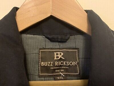 $55.67 • Buy Buzz Ricksons Distressed Navy Blue Casual Jacket Size M- 42  Chest