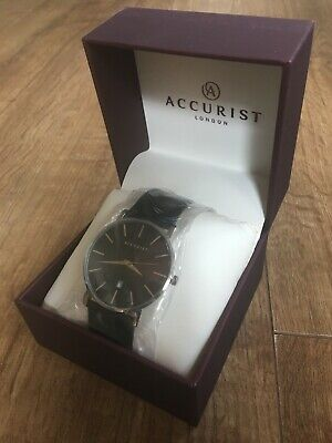 £27.99 • Buy Accurist Mens Watch 7124 Classic Dress With Leather Strap - NEW BOXED WITH TAGS