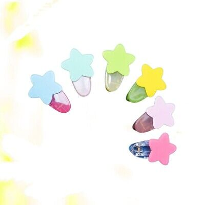 $ CDN8.44 • Buy 6pcs Hairpin Attracive Candy Color Star Hair Clip Hair Accessories For Girls