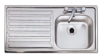 £85 • Buy Astracast Eclipse 1000 X 500mm Two Tap Holes Kitchen Sink - EC1050SL