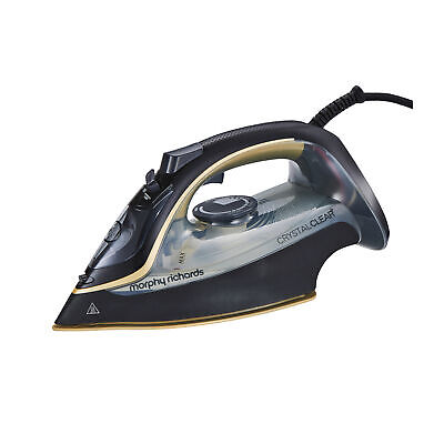 £32.99 • Buy Morphy Richards 300302 Steam Iron With Crystal Clear Water Tank - Black/Gold