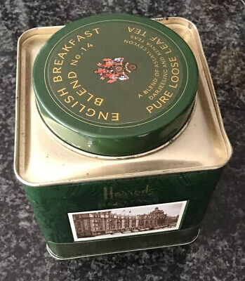 £1.40 • Buy Harrods Heritage Blend No.14 Tea Caddy/Tin/ Canister (empty)