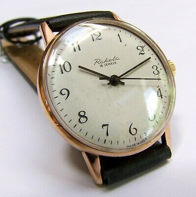 £22.69 • Buy Gold Plated Vintage RAKETA  Watch Made In USSR From 1960s | The Russian Beauty