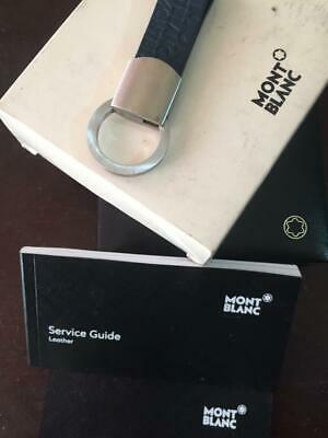 £31.23 • Buy Montblanc Key Holder Leather Blue W Box And Papers Good Condition Used Twice