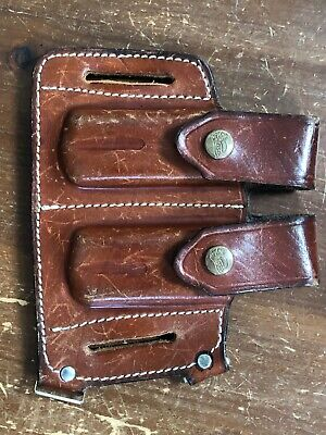 £17.98 • Buy Dual Utility Knife Or  Fold-Up Multi-Tool Leather Belt Holster-E&M Paso-Africa
