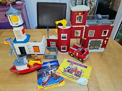 £5 • Buy Rare Fisher  Price Imaginext Lighthouse And Firestation Playset