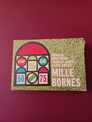 $10.40 • Buy Mille Bornes Card Game (1964) Complete Set Cards Rules NO Scoresheets