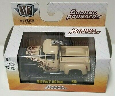 $49.99 • Buy M2 Ground Pounders 1956 Ford F-100 Truck Chase 1 Of 250 VHTF