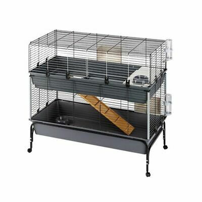 £158.99 • Buy XXL Large Spacious Baby Rabbit Guinea Pig Indoor Small Pet Cage 2 Tier 120 Cm