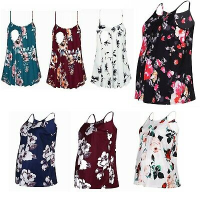 £12.49 • Buy Pregnant Women Nursing Tops Maternity Floral Print Summer Casual Camisole Shirts