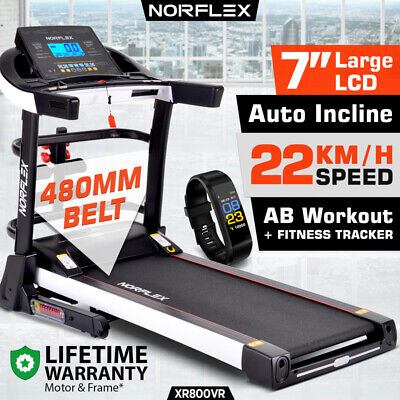 AU969 • Buy NEW NORFLEX Electric Treadmill Auto Incline Home Gym Exercise Machine Fitness