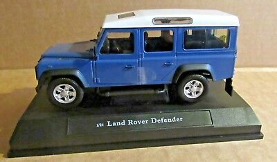 £5.50 • Buy Oxford Cararama Land Rover Defender Station Wagon Blue 1:24 Scale Diecast