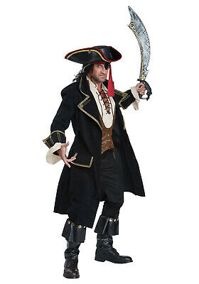 $ CDN243.60 • Buy New Men Black Adult Deluxe Pirate Captain Costume Worldwide Expedited Shipping