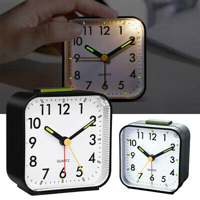 £9.88 • Buy Silent Alarm Clocks Bedside Table Luminous Large Display Battery Powered NEW