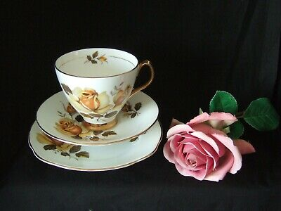 £4.99 • Buy Vintage Royal Imperial  Bone China Trio Tea Cup, Saucer & Plate Yellow Roses
