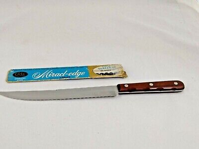 $5 • Buy Vintage Case XX M-238-8  SS CARVER Miracl-Edge Large Serrated Slicing Knife USA