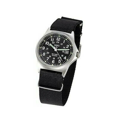 £61.81 • Buy MWC Swiss Military Watch Stainless Steel Date Window And 12/24 Hour Dial Format