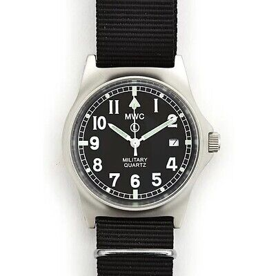 £63.27 • Buy MWC Men's Swiss Military Watch G10 LM Stainless Steel Date Window NATO Strap NEW