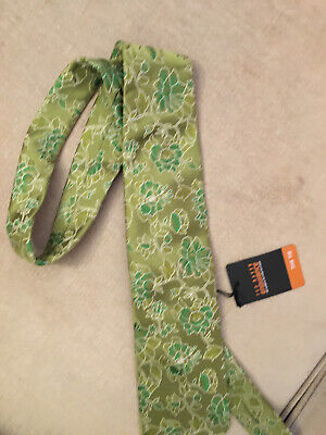 £7.99 • Buy Ted Baker Mens Endurance Mixed Green Floral Thick Silk Tie New
