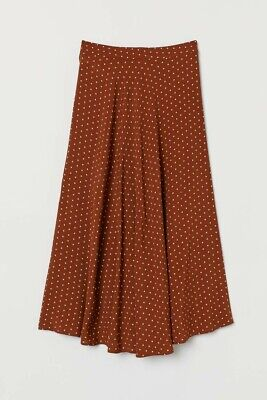 £3.20 • Buy H&M Polka Dot Skirt * Brown/White Spotted * Size 10