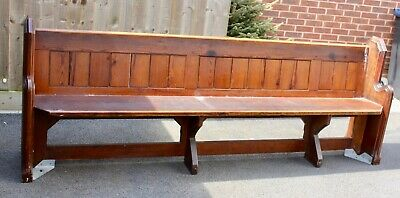 £250 • Buy Antique Pine Victorian Genuine Church Pew Bench Reclaimed From Ratby Church
