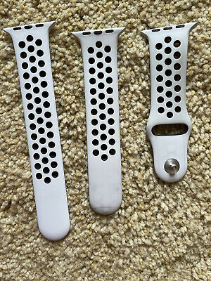 AU40.07 • Buy Apple Watch Nike Series 3 42mm Silver Al Pure Plat/Black Sport Band Only-NoWatch
