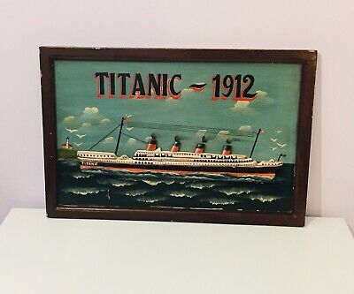 £29.99 • Buy Wooden Titanic 3D Wall Art Plaque/Picture Sign Rare Hand Painted