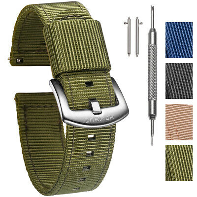 $12.99 • Buy Two-Piece Military Nylon Watch Bands Quick Release Watch Strap For Men