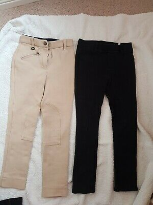 £5.50 • Buy Size 20R Girls Jodphurs X2 One Is TAGG The Black Is H&m These Were Worn By My 7