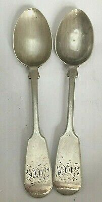 £4.20 • Buy Pair Antique Victorian Sterling Silver Tea Spoons Exeter 1863